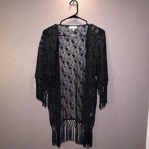 Sweaters - Cute patterned lace cardigan/kimono